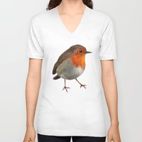robin hood V-neck T-shirts featuring Robin by Freeminds