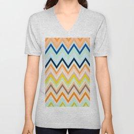 Colorful chevron Unisex V-Neck