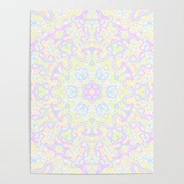 Pastel Kaleidoscope 1 Poster