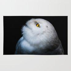 Winter White Snowy Owl Rug