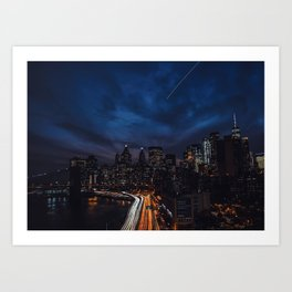 The City Never Sleeps Art Print