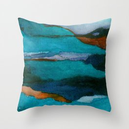 """""""a dark february redux1"""" abstract watercolor painting Throw Pillow"""