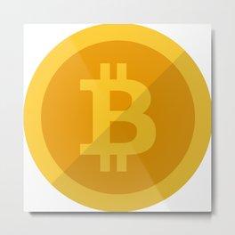 Bitcoin Golden Coin Metal Print