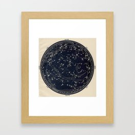 Constellation Chart Framed Art Print