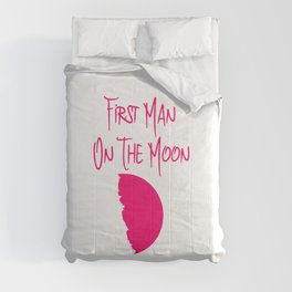 First Man on the Moon 1969 50th Anniversary Quote Comforters