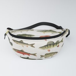 Illustrated Denton Fish Chart of Fishes of North America Fanny Pack