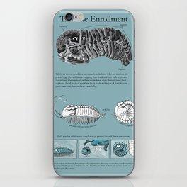 Trilobite Enrollment poster iPhone Skin