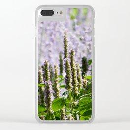Purple Summer Clear iPhone Case