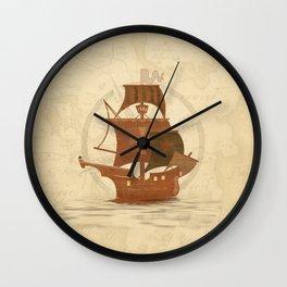Pirate Mystery Ship Wall Clock