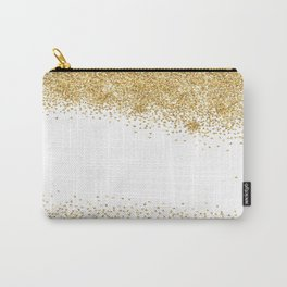Sparkling golden glitter confetti effect Carry-All Pouch