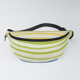 Playing with Strings - Line Art - Blue, Green, Yellow Fanny Pack