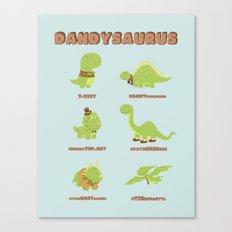 DANDYSAURUS Canvas Print