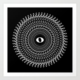 Music mandala no 2 - inverted Art Print