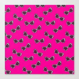Diva Sunglasses-Pink Canvas Print