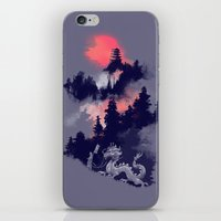 sunset iPhone & iPod Skins featuring Samurai's life by Picomodi