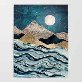 Indigo Sea Poster