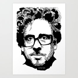 Tim Burton in colors by burro Art Print