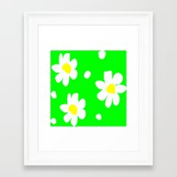 daisies Framed Art Prints featuring Daisies by Vitta