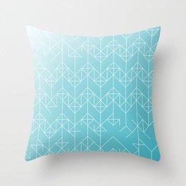 geometric turqoise Throw Pillow