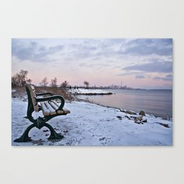 Winter dawns in Toronto, Canada Canvas Print