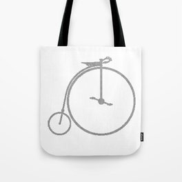 Penny Farthing Halftone Tote Bag