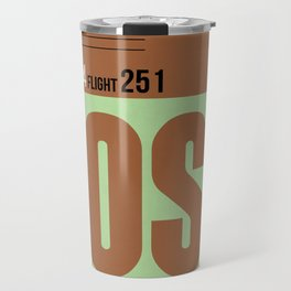 BOS Boston Luggage Tag 1 Travel Mug