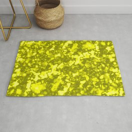 A chaotic cluster of yellow bodies on a light background. Rug