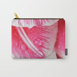 Raindrops on pink tulip petals Carry-All Pouch