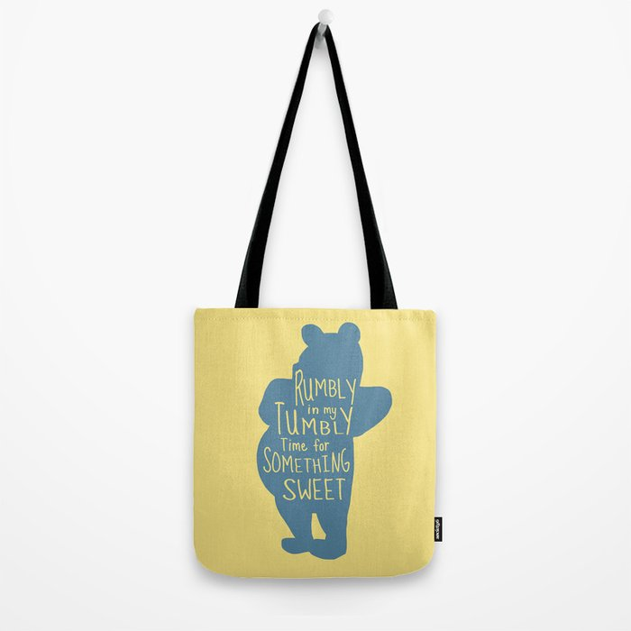 Rumbly in my Tumbly Time for Something Sweet - Pooh inspired Print Tote Bag