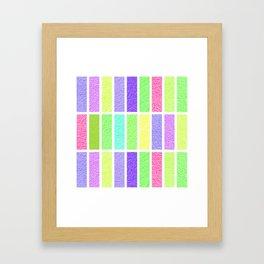 PASTEL RECTANGLES SHAPES  Framed Art Print