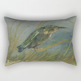 Kingfisher by the Waterside Rectangular Pillow