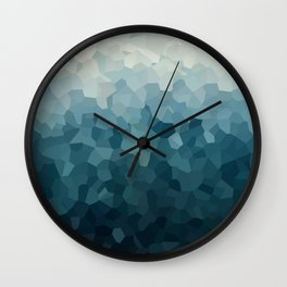 Ice Blue Mountains Moon Love Wall Clock