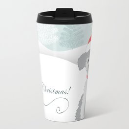 merry christmas with cute puppy Travel Mug