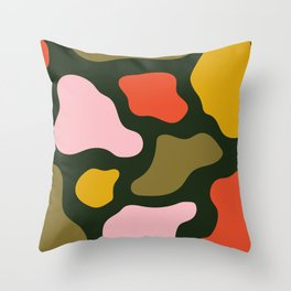 Blobazzo - Green Throw Pillow