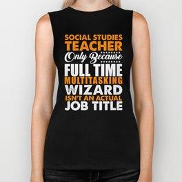 Social Studies Teacher Wizard Biker Tank
