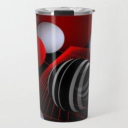 crazy lines and balls -7- Travel Mug