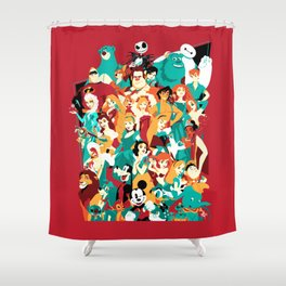 Mouse House Heroes Shower Curtain