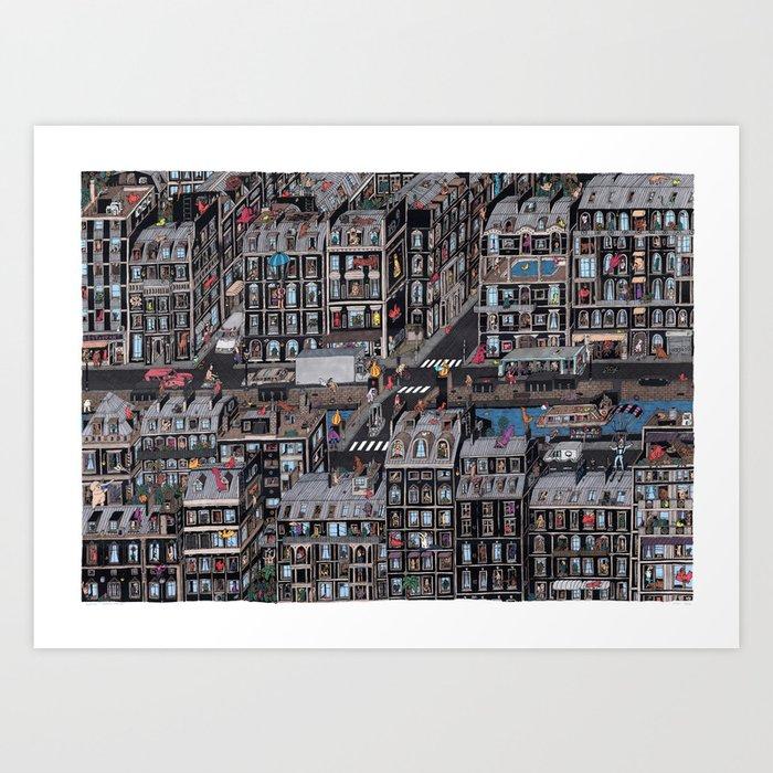 Parisian Neighbourhood Art Print