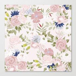 Watercolour Flower Pattern Canvas Print