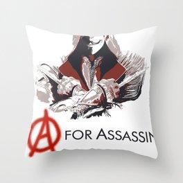 A for Assassin Throw Pillow