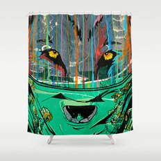 Wolf Mother - Screen Print Edition  Shower Curtain