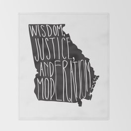 Georgia Motto - Black Throw Blanket
