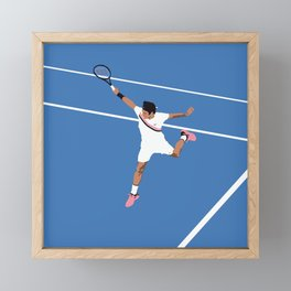 Roger Federer Backhand Framed Mini Art Print