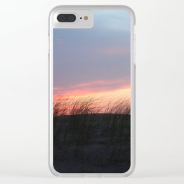 Seagrass Sunset Clear iPhone Case