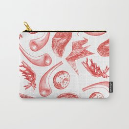 In Vitro Meat Pattern V Carry-All Pouch