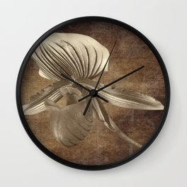 Vintage Flowers Digital Collage  1 Wall Clock
