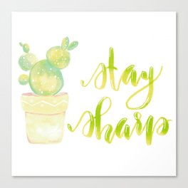 Advice From A Cactus Canvas Print