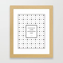 Plato - Touch of a Lover Framed Art Print