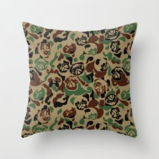 Pug Camouflage Throw Pillow