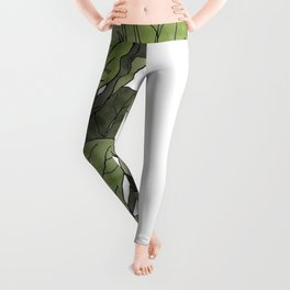 Ficus Lyrata Potted Plant.. Leggings